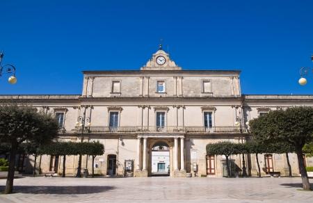 Town hall building. Mottola. Puglia. Italy.
