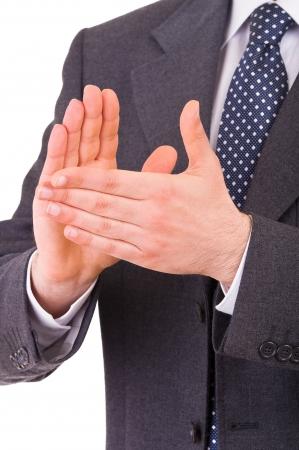 manos aplaudiendo: Empresario aplaudiendo
