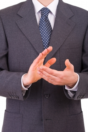 Businessman clapping his hands Imagens - 19357368