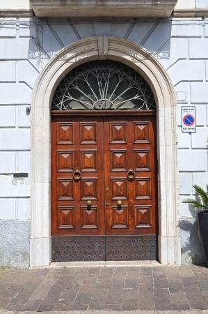 basilicata: Wooden door. Melfi. Basilicata. Italy.