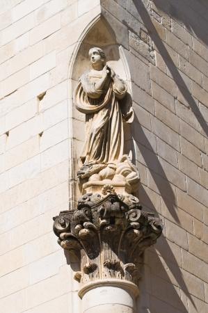 immaculate: Columna de la Inmaculada. Lecce. Puglia. Italia.