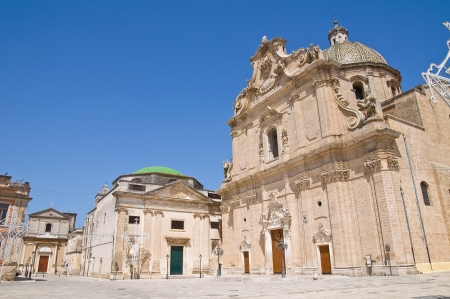 fontana: Basilica of SS. Rosario. Francavilla Fontana. Puglia. Italy.