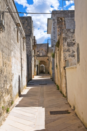 Alleyway. Presicce. Puglia. Italy.  Stock Photo - 20035590