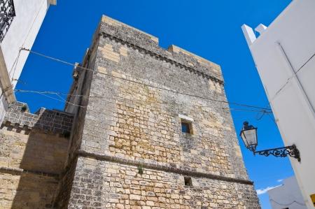 bulwark: Castle of Castro. Puglia. Italy.
