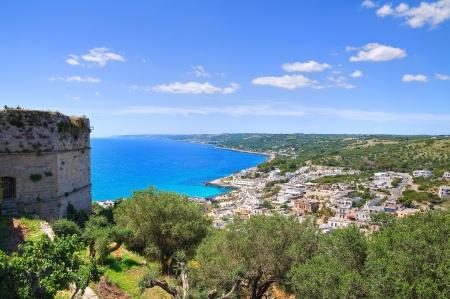 castro: Panoramic view of Castro. Puglia. Italy.