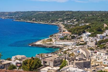 castro: Panoramic view of Castro  Puglia  Italy