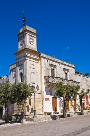 Clocktower. Palmariggi. Puglia. Italy.  photo