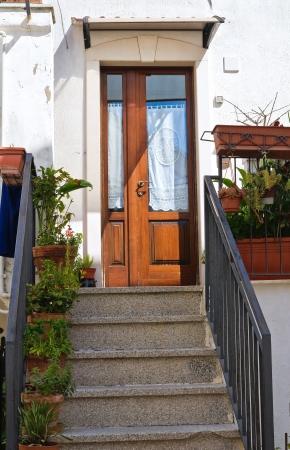 mottola: Wooden door  Mottola  Puglia  Italy  Stock Photo