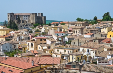 urbanistic: Panoramic view of Melfi  Basilicata  Italy   Stock Photo