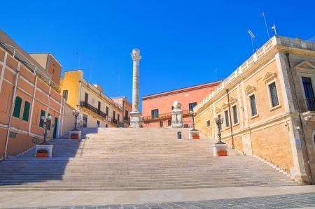 urbanistic: Roman columns  Brindisi  Puglia  Italy  Stock Photo