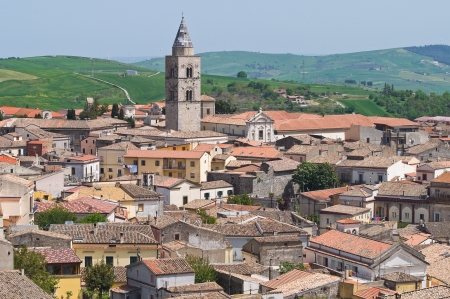 urbanistic: Panoramic view of Melfi  Basilicata  Italy