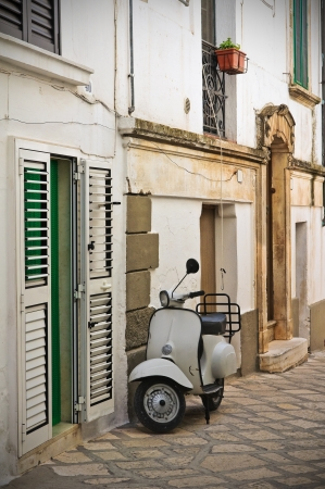 Alleyway. Ceglie Messapica. Puglia. Italy.  photo