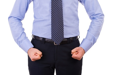 Businessman with clenched fist   photo