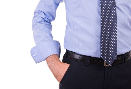 Businessman with hand in pocket  photo
