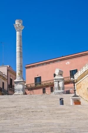 columnas romanas: Columnas romanas. Brindisi. Puglia. Italia.