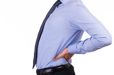 aching: Businessman with aching back.