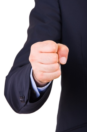 Businessman with clenched fist. photo
