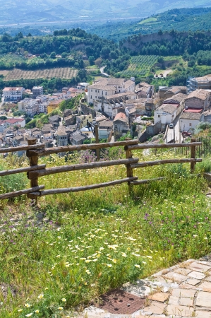 Panoramic view of Tursi. Basilicata. Italy.  photo