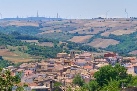 Panoramic view of Roseto Valfortore. Puglia. Italy. Imagens - 21159143
