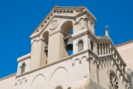 daunia: Church of St. Francesco. Manfredonia. Puglia. Italy. Stock Photo