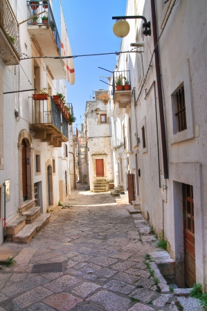 urbanistic: Alleyway. Putignano. Puglia. Italy.  Stock Photo