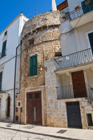 fortified: Fortified tower. Conversano. Puglia. Italy.  Stock Photo