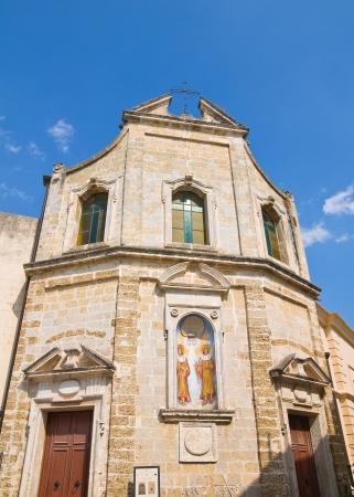 urbanistic: Church of SS. Cosma e Damiano. Mesagne. Puglia. Italy.