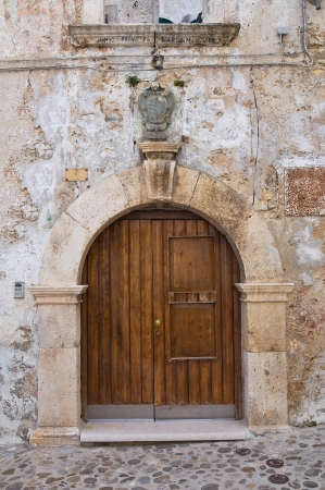 rodi garganico: Historical palace. Rodi Garganico. Puglia. Italy. Stock Photo