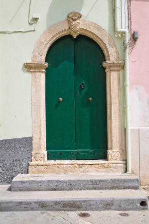 rodi: Wooden door  Rodi Garganico  Puglia  Italy