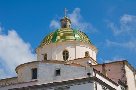 urbanistic: Church of Madonna della Libera. Rodi Garganico. Puglia. Italy. Stock Photo