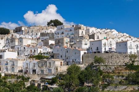 Panoramic view of Monte SantAngelo  Puglia  Italy  Stock Photo - 22096868
