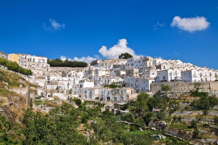 Panoramic view of Monte SantAngelo  Puglia  Italy  photo