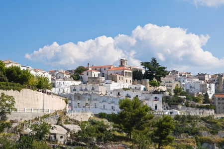 coutryside: Panoramic view of Monte SantAngelo  Puglia  Italy  Stock Photo