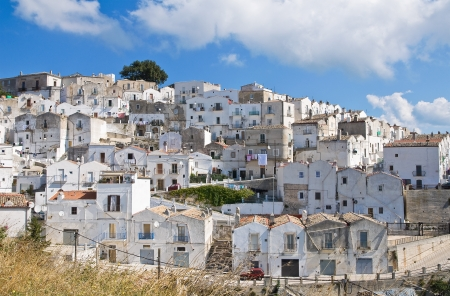 Panoramic view of Monte SantAngelo  Puglia  Italy  Stock Photo - 22096881