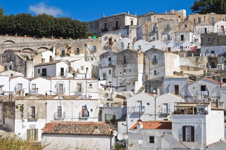 Panoramic view of Monte SantAngelo  Puglia  Italy Stock Photo - 22096882