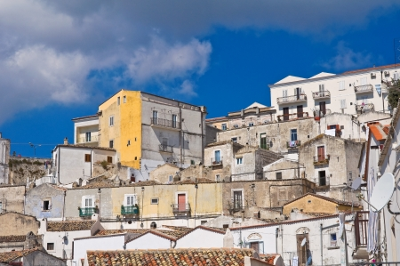 Panoramic view of Monte SantAngelo  Puglia  Italy Stock Photo - 22096906