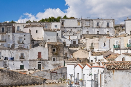 Panoramic view of Monte SantAngelo  Puglia  Italy  Stock Photo - 22096907