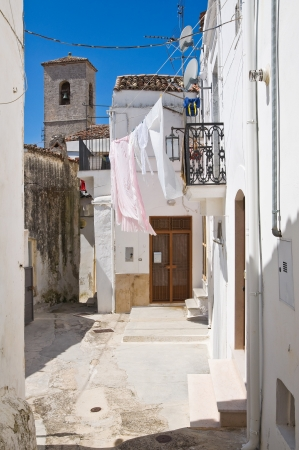 Alleyway. Monte Sant'Angelo. Puglia. Italy. photo