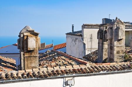 monte sant'angelo: Panoramic view of Monte SantAngelo  Puglia  Italy  Stock Photo