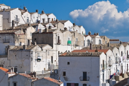 Panoramic view of Monte Sant'Angelo. Puglia. Italy.  photo