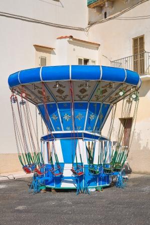 rodi: Children Carousel. Rodi Garganico. Puglia. Italy.