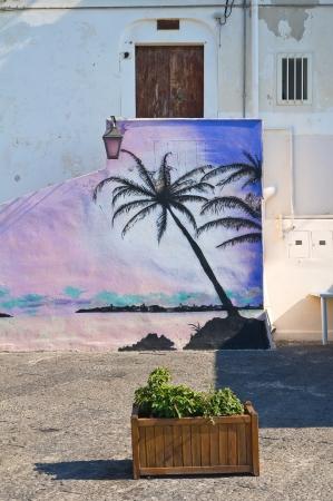 rodi garganico: Alleyway. Rodi Garganico. Puglia. Italy.  Editorial