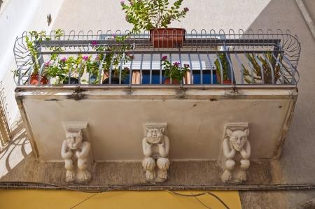telamon: Historical palace  Manduria  Puglia  Italy
