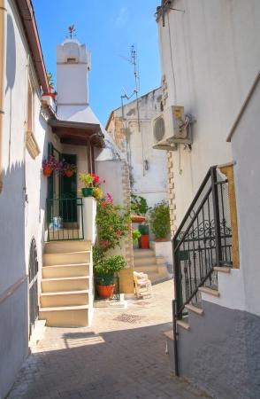 rodi: Alleyway. Rodi Garganico. Puglia. Italy.  Stock Photo