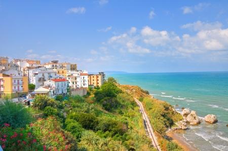 rodi garganico: Panoramic view of Rodi Garganico. Puglia. Italy.  Stock Photo