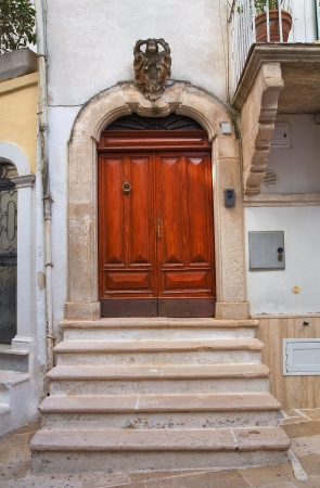 Wooden door. Noci. Puglia. Italy. photo