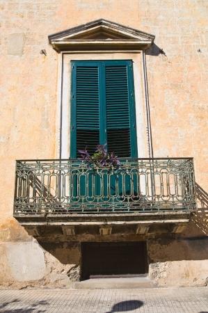 telamon: Historical Palace. Manduria. Puglia. Italy.