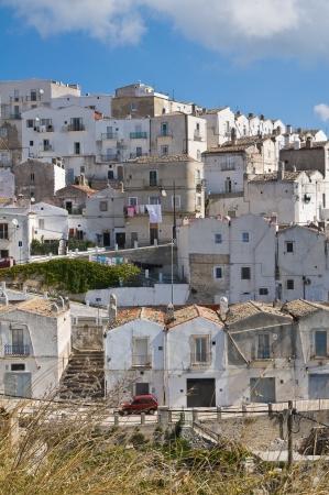 Panoramic view of Monte SantAngelo  Puglia  Italy  Stock Photo