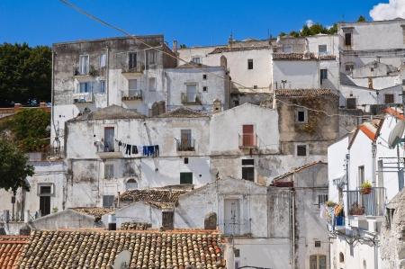monte santangelo: Panoramic view of Monte SantAngelo  Puglia  Italy  Stock Photo