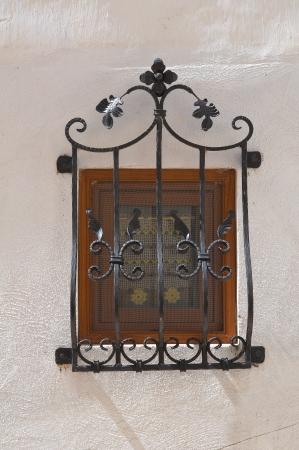 monte santangelo: Wooden window  Monte SantAngelo  Puglia  Italy